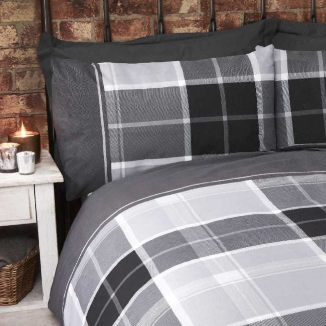 Argyle grey duvet set