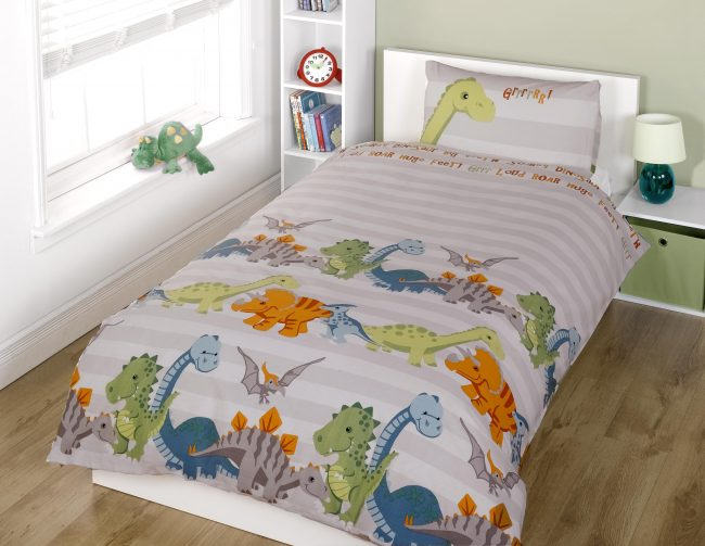 Duvet Set dinosaur natural