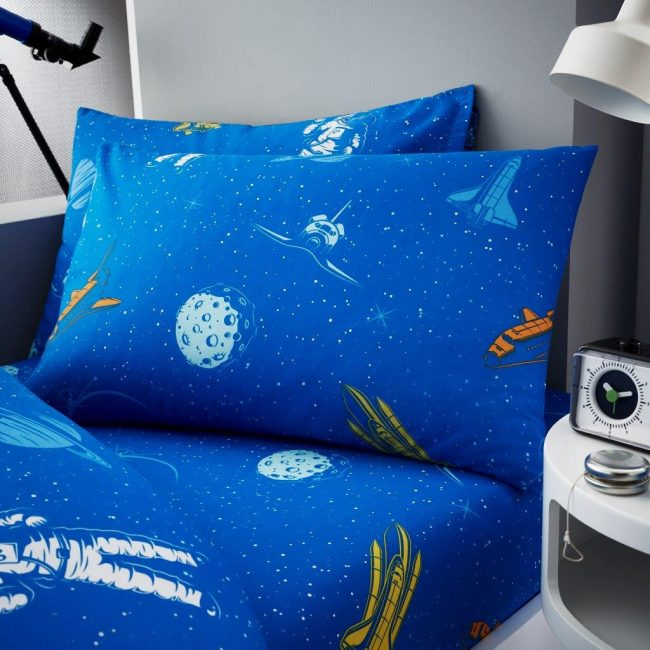 Astronaut Single fitted sheet