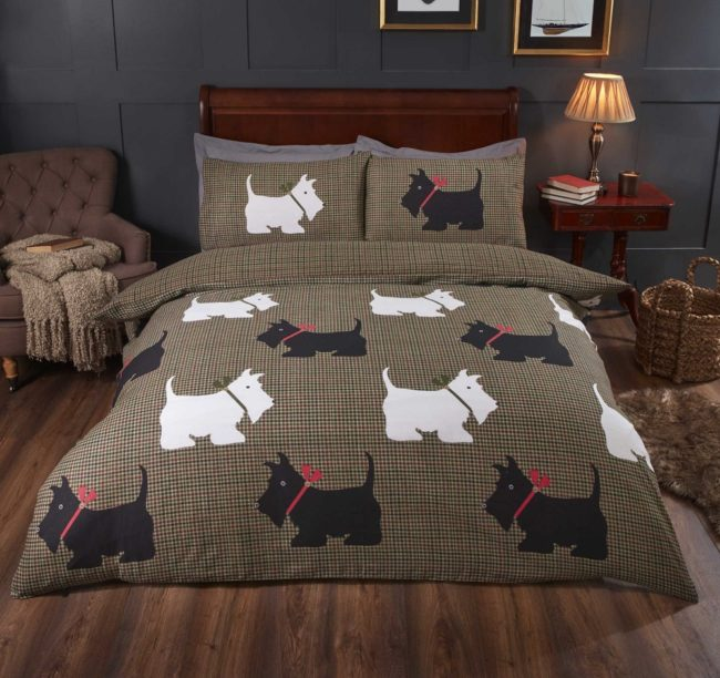 Hamish Scottish terrier Duvet