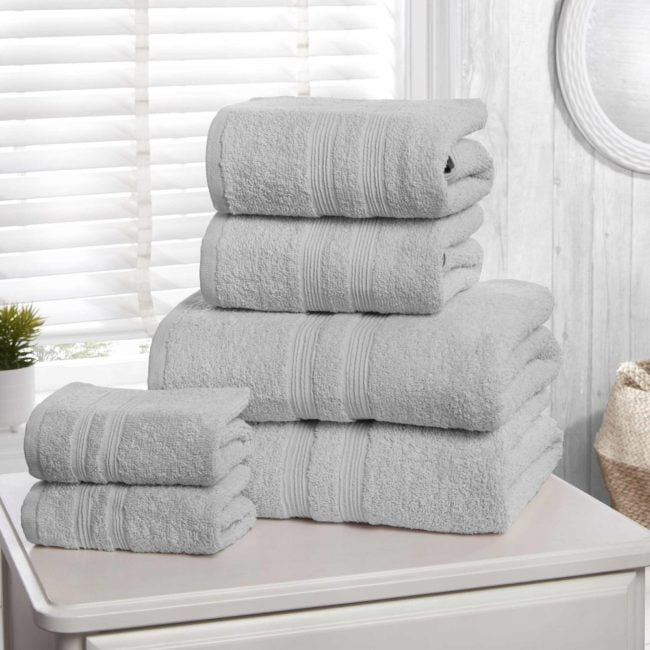 Camden silver 100% Cotton Towels silver