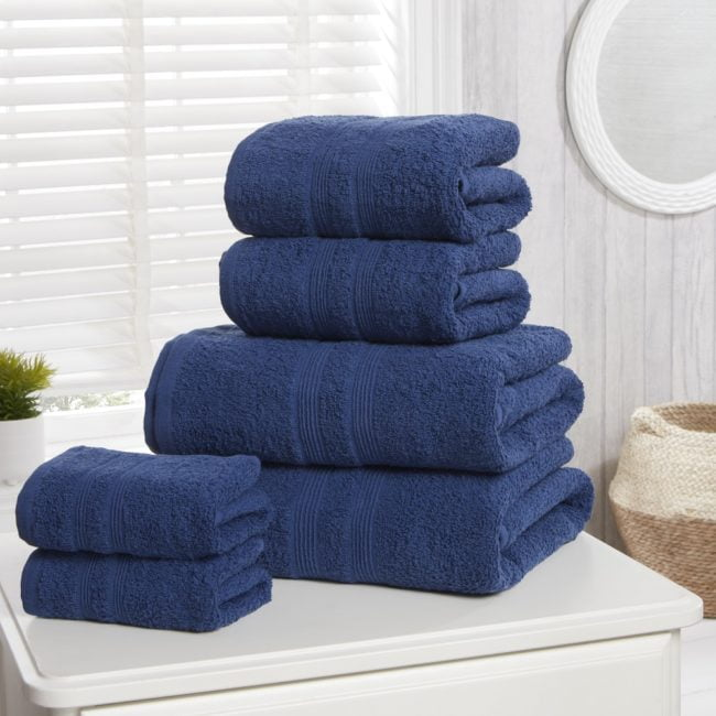 Camden 100% Cotton Towels lue