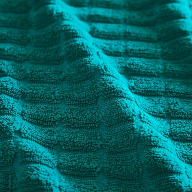 Geo Turquoise cotton towels
