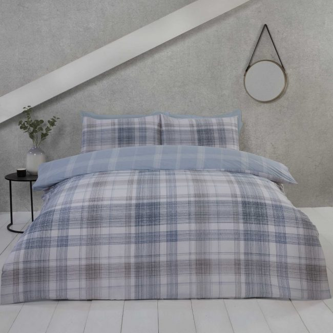 jasper blue duvet set