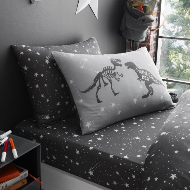 Space T-rex fitted sheet