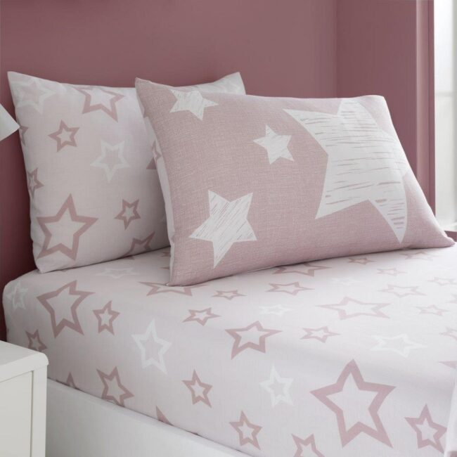 super star blush fitted sheet