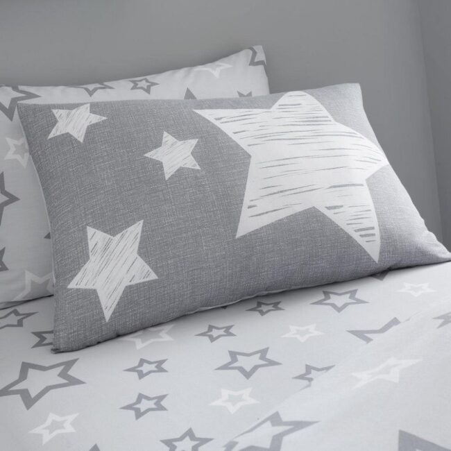 super star grey fitted sheet