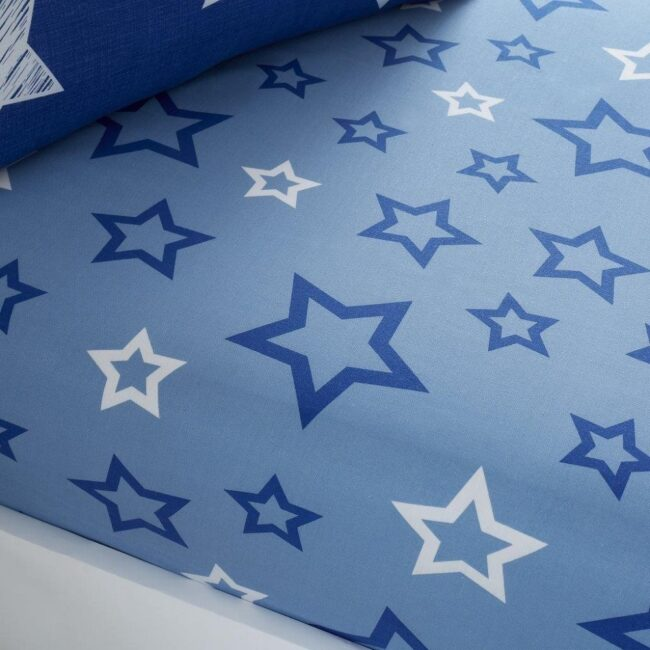 super star navy fitted sheet