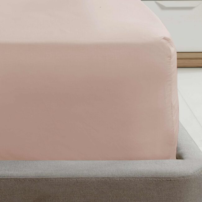 Deep fitted sheet Pink