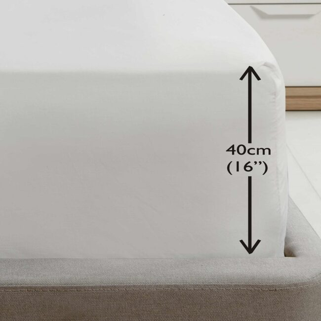 Deep fitted sheet White